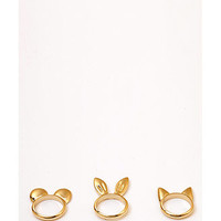 Animal Ear Ring Set