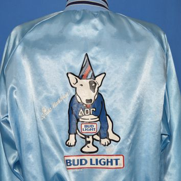 80s Spuds Mackenzie Bud Light Satin Jacket Extra Large