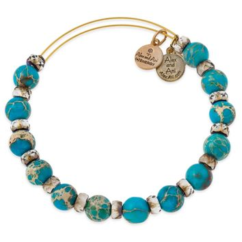 Aqua Carousel Beaded Bangle