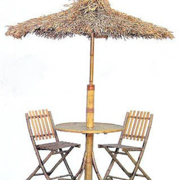 Patio Furniture Set - Palapa Set (Natural) (Sizes Vary)