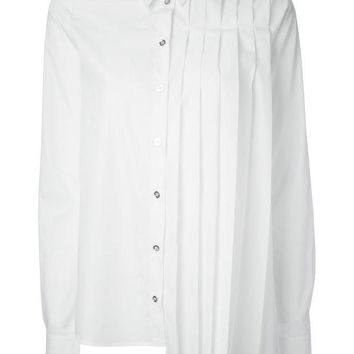 ICIKIN3 MM6 By Maison Martin Margiela asymmetric pleated shirt