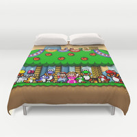 Super Mario World Happy Ending Duvet Cover by likelikes | Society6