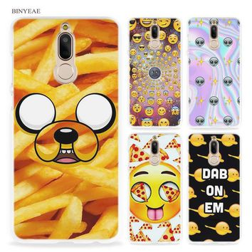 BINYEAE boss Bitch mode on pink please Emoji art Hard Clear Case Cover for Huawei Mate 10 P8 P9 Lite Y5 II Y6 Y3 2017 Mini Honor