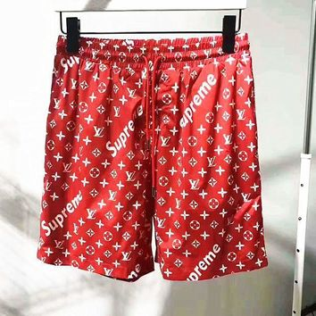 Boys & Men Supreme Print Muliticolor Shorts