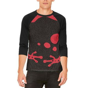 CREYCY8 Red Banded Poison Dart Frog Costume Mens Raglan T Shirt