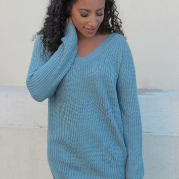 Perfect Pick Sweater - Robins Egg
