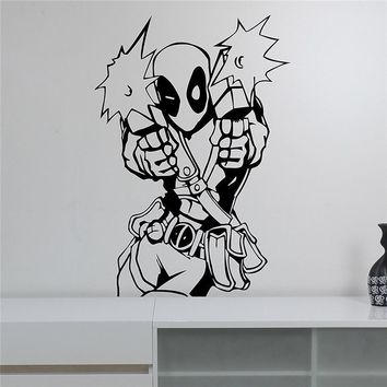Deadpool Dead pool Taco  Wall Decal Vinyl Sticker Marvel  Superhero Art Decorations for Home Housewares Playroom Kids Boys Room Decor M888 AT_70_6