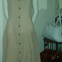 Lola Bonaventure Dress Linen Full Length Vest