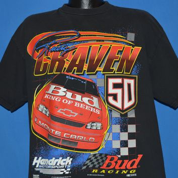 90s Ricky Craven Budweiser Bud Racing t-shirt Extra Large