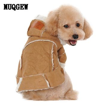 Dog winter coats and jackets Suede Fabric Dog Clothes Puppy Dog big dog clothes  XT