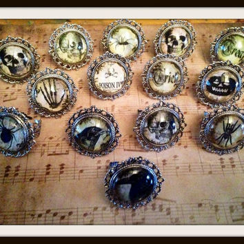 Creepy Gothic Rings, 14 designs to choose from!