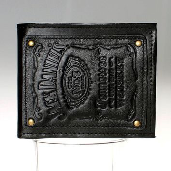 Jack daniels, boys and girls students personality fashion short transverse section 2 fold wallet DFT-1525