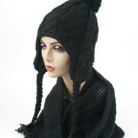 Women's Trapper Knit Winter Ear Flap Hat P212