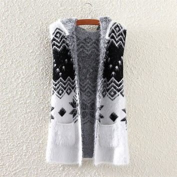 Snowflake Mohair Hooded Cardigan Ourwear