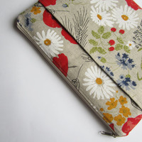 Poppies MacBook 13 sleeve with pockets, MacBook Pro 13 sleeve, MacBook Air 13 Case, MacBook Pro 13 Retina, MacBook Air 11 Case