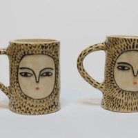Reserved Listing - SALE - Wonky Beauties - Hand-made Ceramic Espresso Cups