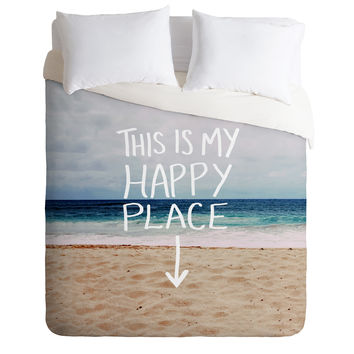 Leah Flores Happy Place X Beach Duvet Cover