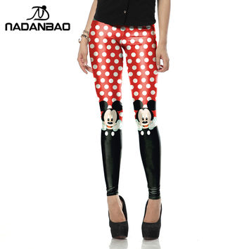 New Arrival Red legins Cute micky rat leggins Printed  Women leggings KDK1447