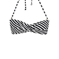Delia's Fruit Dot Stripe Twist Bandeau