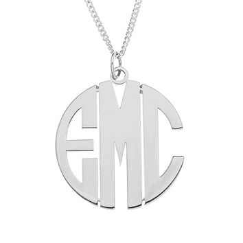 MODERN MONOGRAM PENDENT SMALL - STERLING SILVER