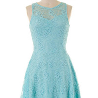 Elegant Reception Dress - Aqua