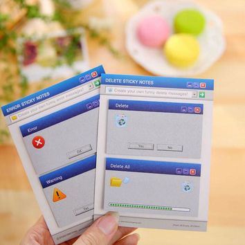 Creative Funny Computer Signal Sticky Notes Memo Pad School Office Supplies Stationery Planner Notepad Post it Papelaria