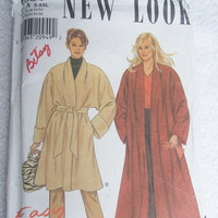 Sewing Pattern Vintage New Look 6686 Uncut Misses Coat Five Sizes In One S to XXL Two Different Styles DIY Winter Clothing Fashion Design