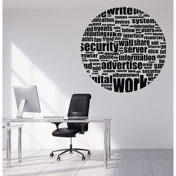 Vinyl Wall Decal Quotes Words Social Media Theme Work Internet Server Unique Gift (n1205)