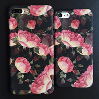 Vintage Rose Flower iPhone 7 7Plus & iPhone se 5s 6 6 Plus Case Cover +Gift Box-193