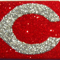 Sparkly Cincinnati Reds iPhone 4/4G OR iPhone 5 Cell Phone Case