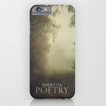 Unwritten poetry iPhone & iPod Case by HappyMelvin | Society6