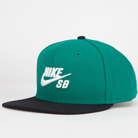 Nike Sb Icon Mens Snapback Hat Teal Green One Size For Men 23772651201