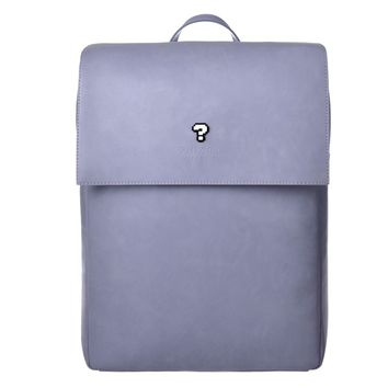 Question Mark Pixel Leather Backpack