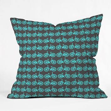 Allyson Johnson Bike ride Throw Pillow