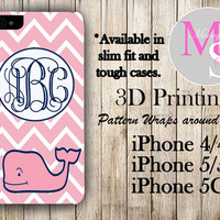 Monogram iPhone Case Personalized Phone Case Vineyard Vines Inspired Monogrammed iPhone Case, Iphone 4S, Iphone 4 iPhone 5S, iPhone 5C #2251