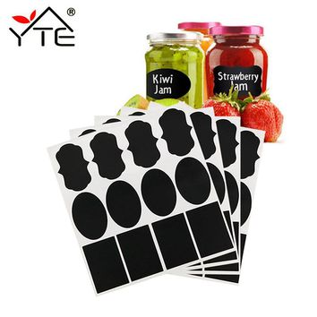 40pcs Waterproof Mason Jar Bottle Stickers Labels Home Kitchen Jars Stickers Chalkboard Lables Tags Can Be Reused