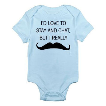Must Dash Mustache Baby by PamelaFugateDesigns