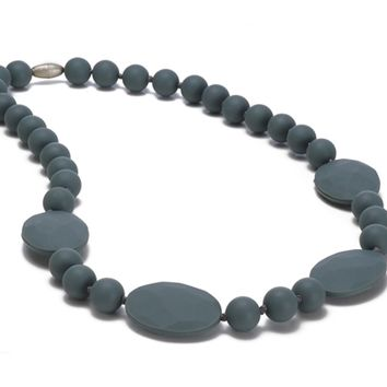 Chewbeads Perry Teething Necklace - Stormy Grey