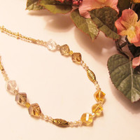 Crystal Sunshine Necklace by RomanticThoughts on Etsy