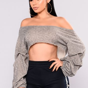 Loralai Off Shoulder Top - Grey