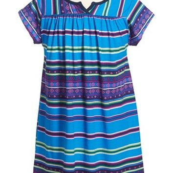 Girl's Tea Collection 'Frasada' Graphic Notch Neck Dress,