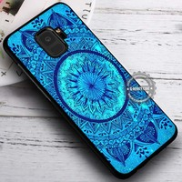 Beautiful Blue Image Mandala Art iPhone X 8 7 Plus 6s Cases Samsung Galaxy S9 S8 Plus S7 edge NOTE 8 Covers #SamsungS9 #iphoneX