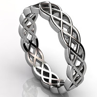 Platinum diamond unusual unique celtic knot band LB-2019.