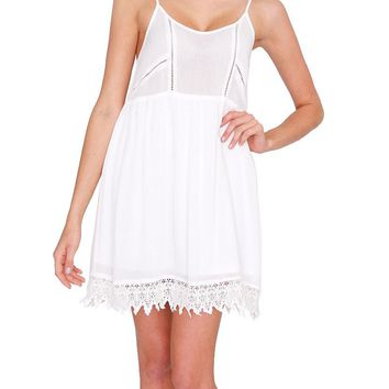Seaside Babydoll Dress - White