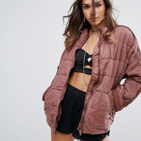 Free People Dolam Quilted Jacket at asos.com
