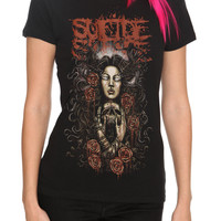 Suicide Silence Roses Girls T-Shirt | Hot Topic