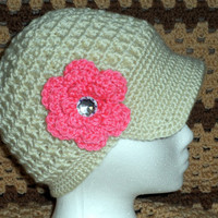 Crocheted Newsboy Hat