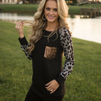 Snow Leopard Glam Top