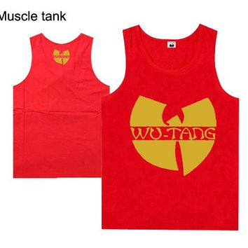 2018 new style casual hip hop high quality wutang men's muscle tank tops for men and women plus size streetwear style