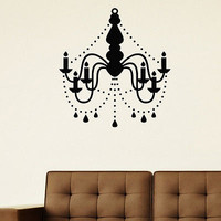WALL DECAL VINYL STICKER CHANDELIER CEILING LAMP DECOR SB531